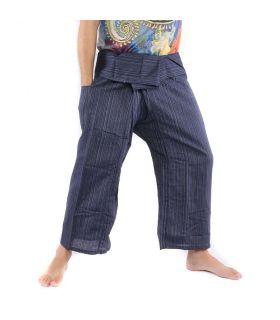 Pantalones de pescador tailandés Cottonmix - azul oscuro