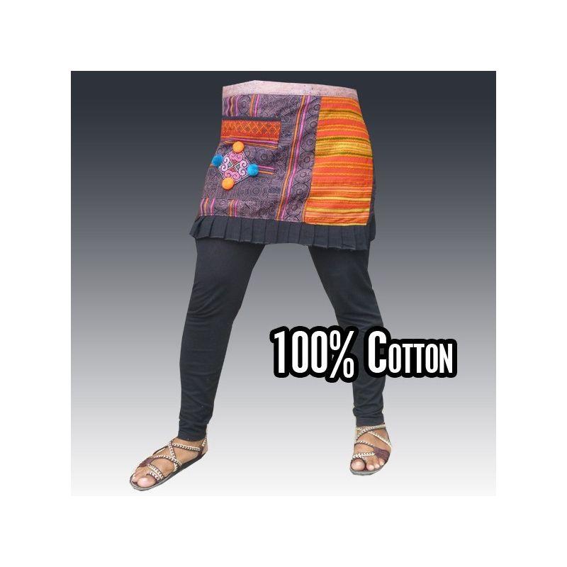 Short hmong hilltribe overskirt