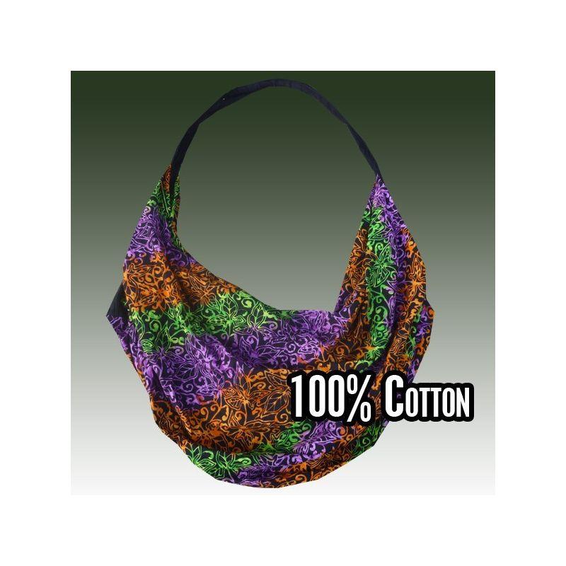 Leichter Umhängebeutel aus Baumwolle, Batik