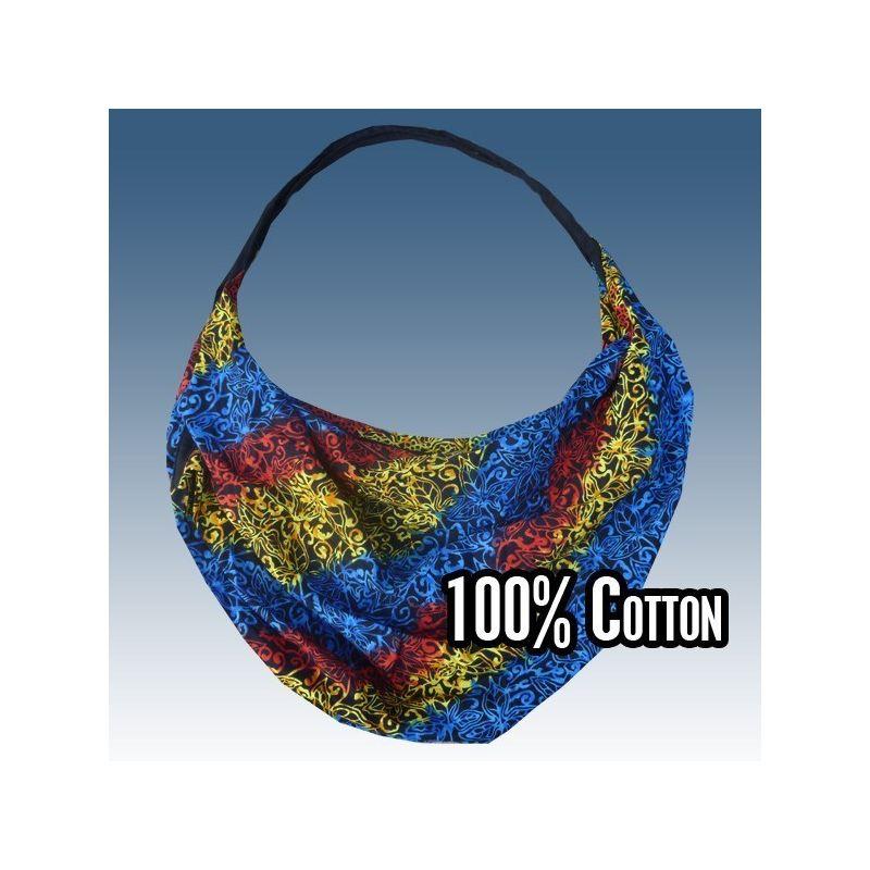 Bolsa de capa ligera de algodón, batik
