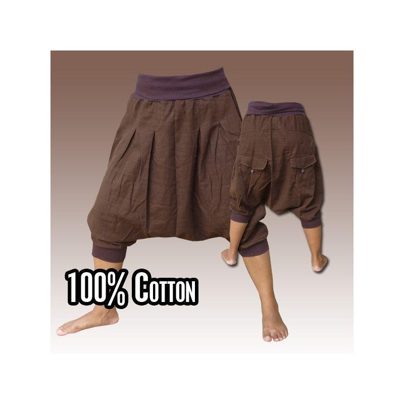 3/4 Pantalones bombachos - Pisett Brown con ceniza de pote 2