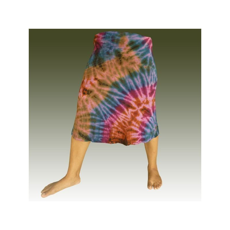 Batik rayon skirt - spandex