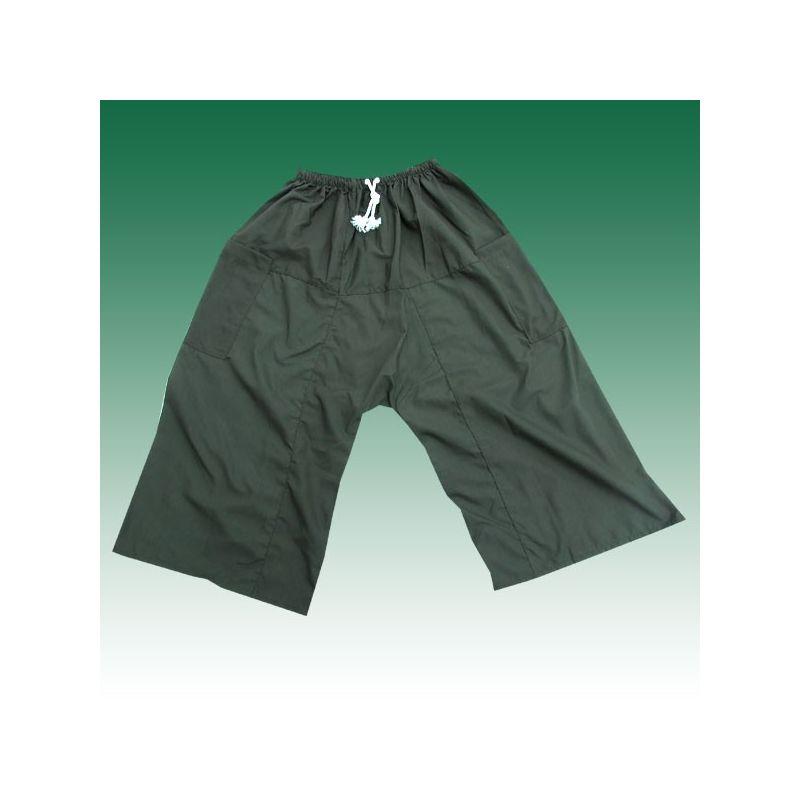 3/4 pescador Thai Boxer shorts - verde oliva