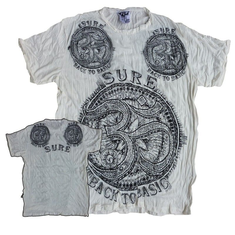 Sure Pure Concept - Camiseta Back To Basic Om - Blanco Talla L