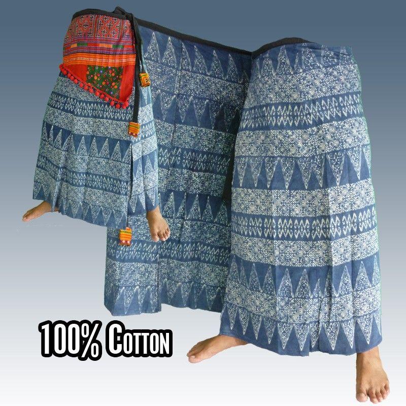 Hmong gratis-tamaño Wickelrock - Unikat