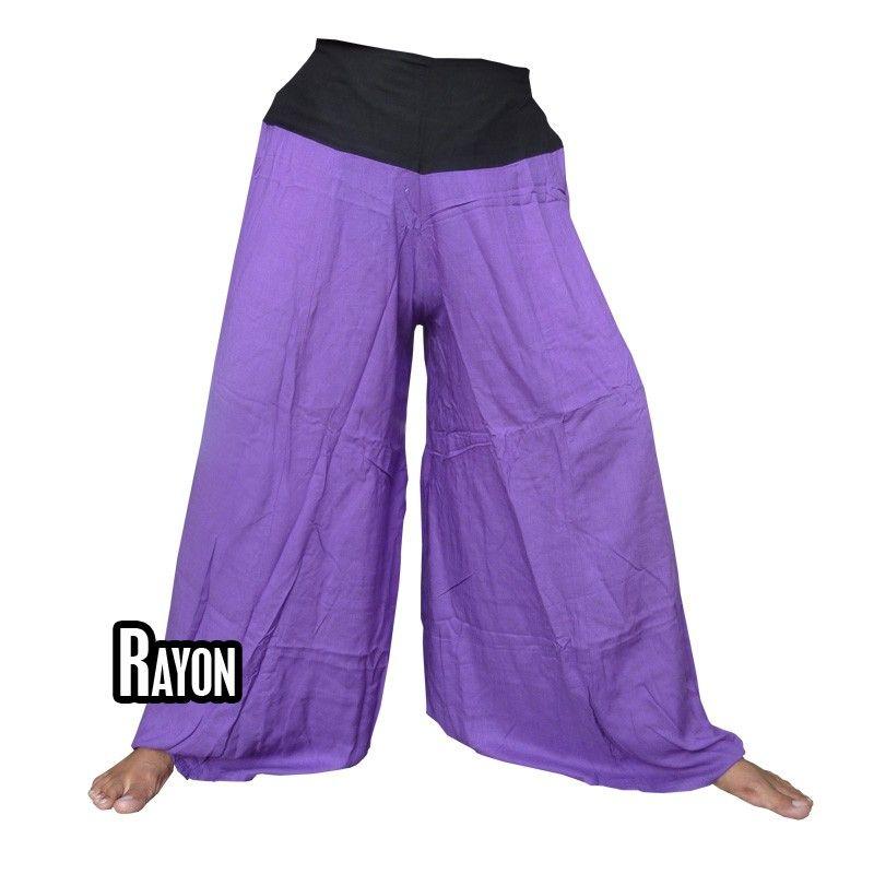 Samurai pants rayon magenta