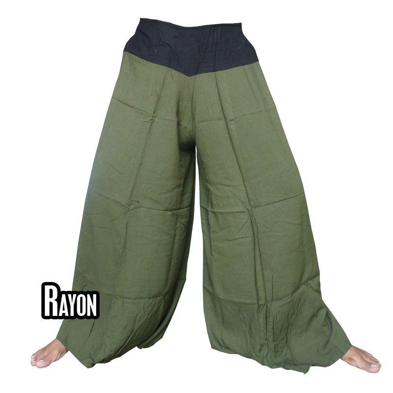 Samurai pants rayon olive