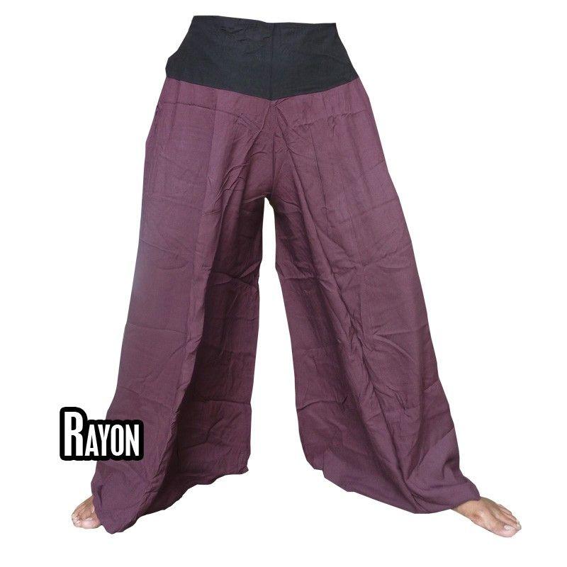 Samurai pantalones de rayón color magenta