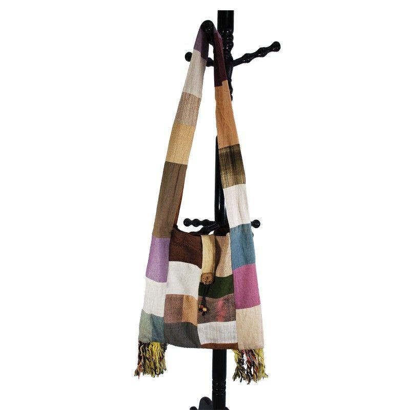 Large cloak bag - patchwork - cotton