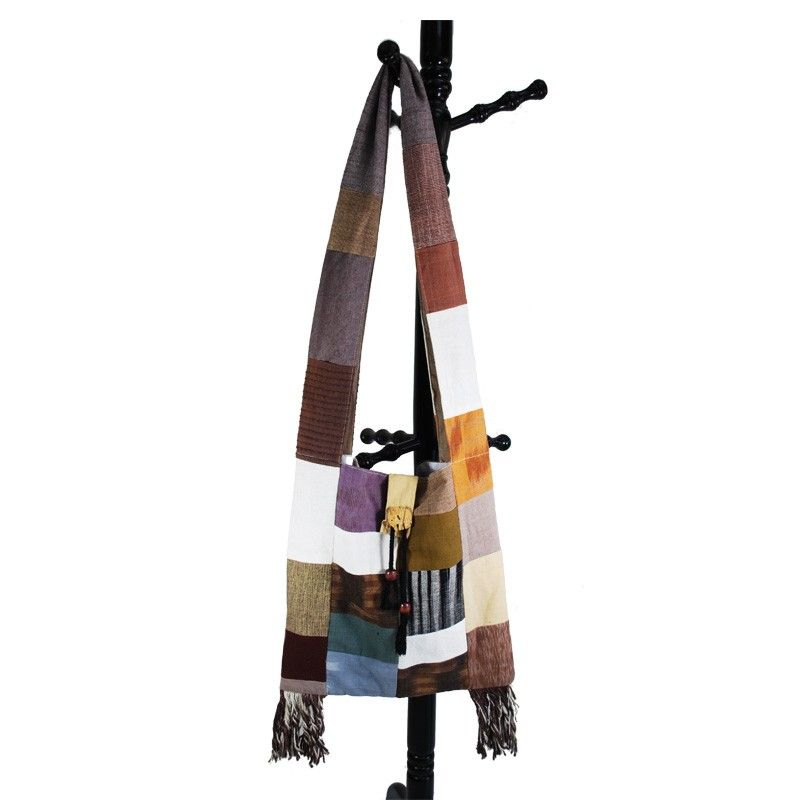 Large hanging bag - patchwork - cotton