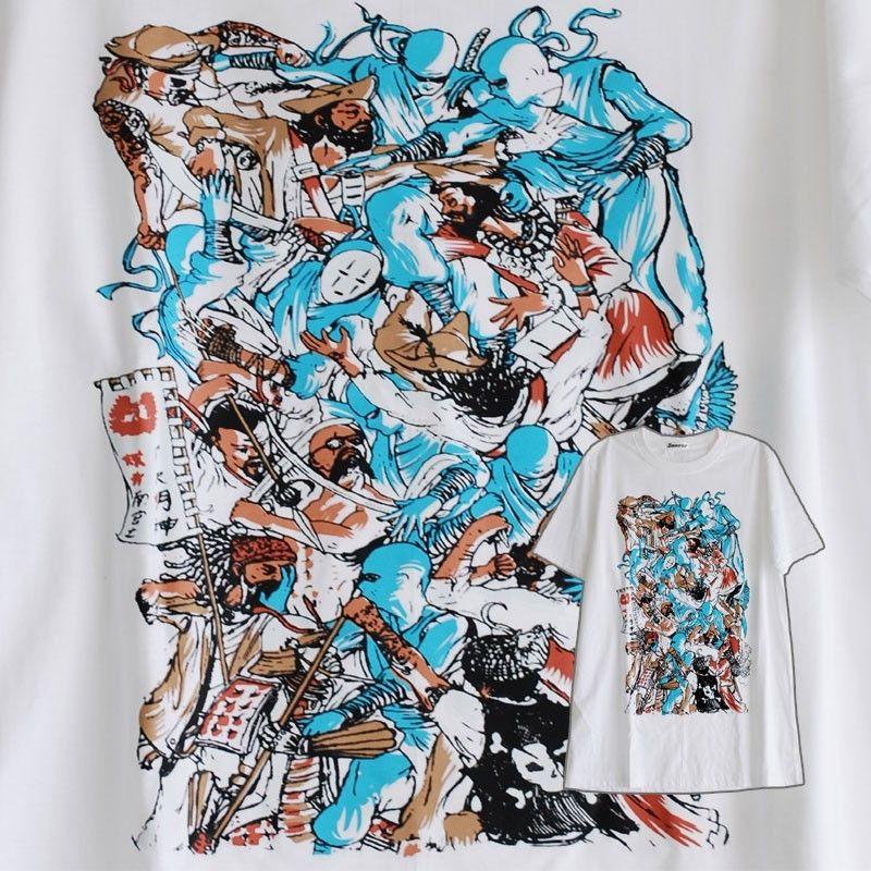 """T-shirt-lucha """"blanco Talla L"""