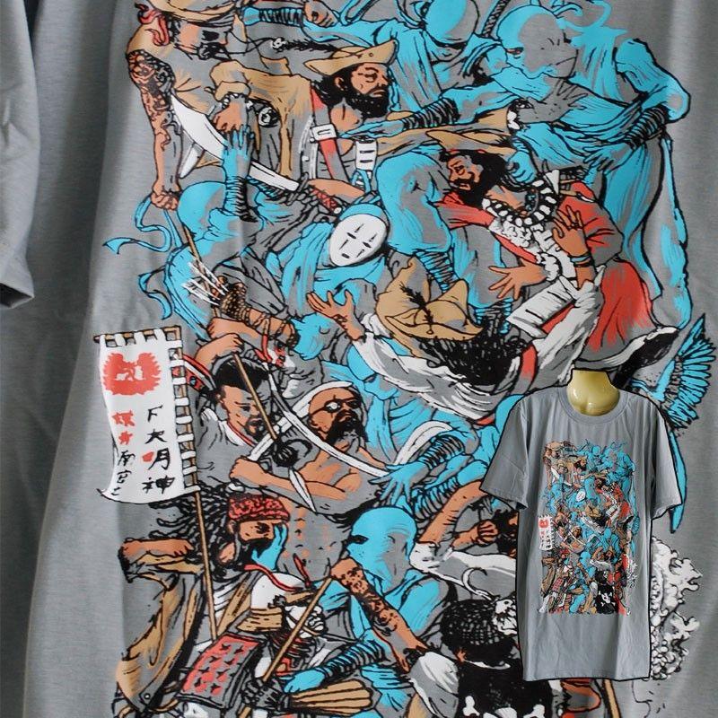 """Camiseta """"Lucha"""" talla L gris"""
