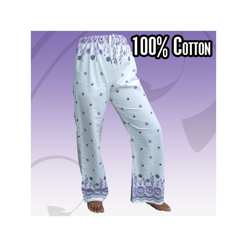 Hippie pants to tie with floral prints