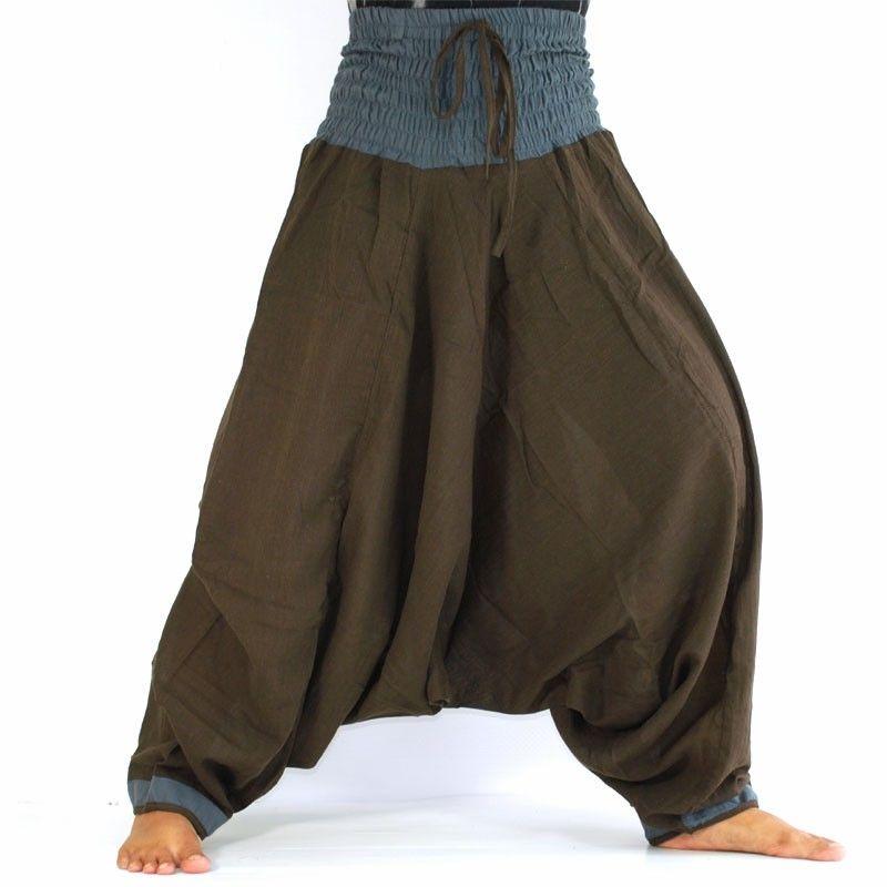 Baggy trousers - dark brown