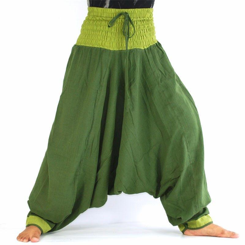 Baggy trousers - dark green