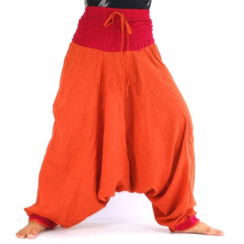 Baggy Pants - orange / red