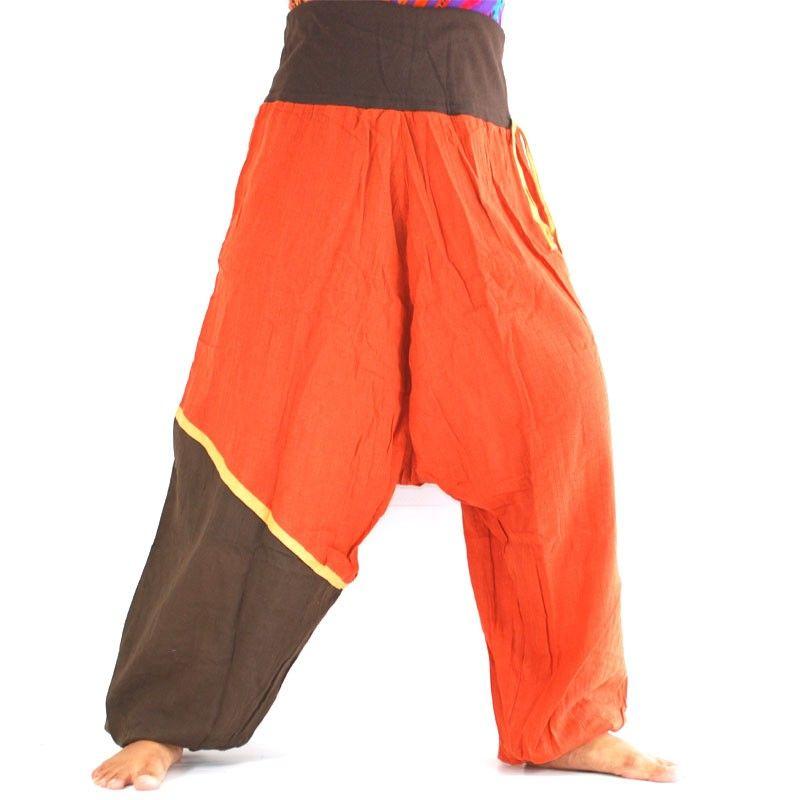 Aladinhose - orange, braun