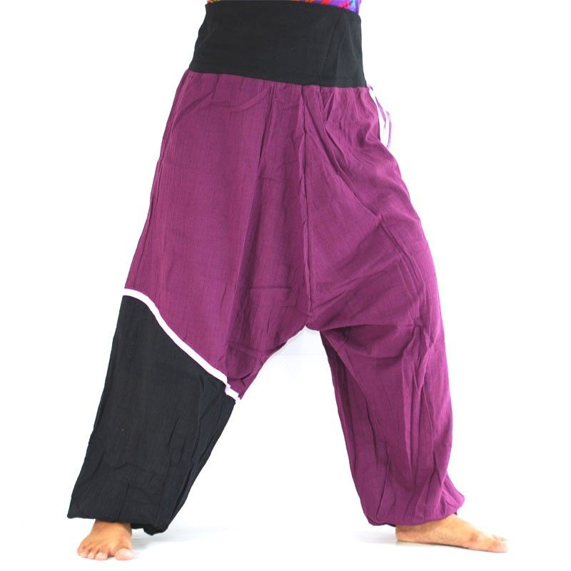 Baggy trousers - black, purple