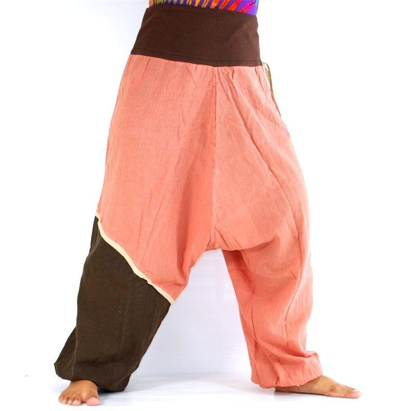 Pantalón de Aladdin-Rosa/braun