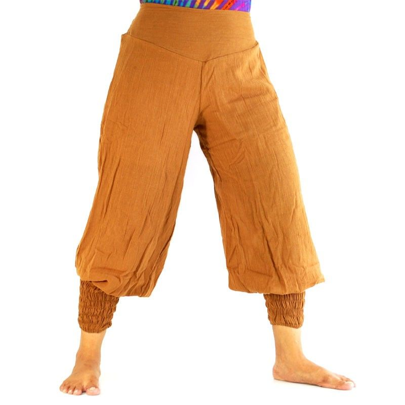 Haremshose Baggy Pants - Baumwolle - braun