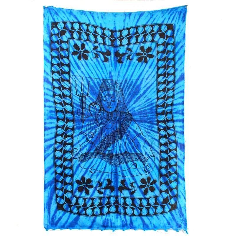 Wandtuch Buddha blau