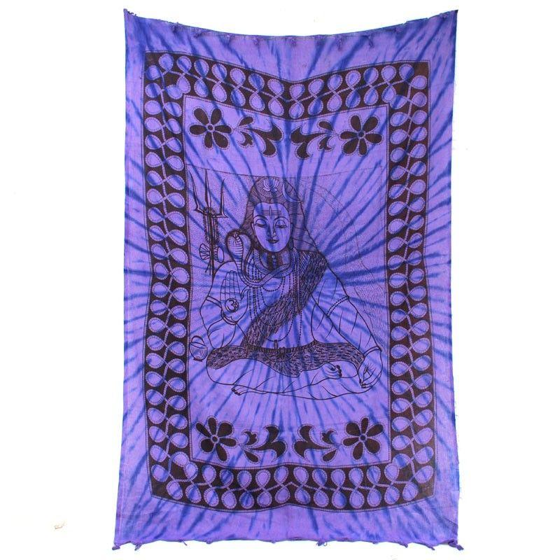 Wandtuch Buddha violett