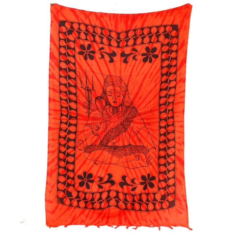 Paño de pared roja Buddha