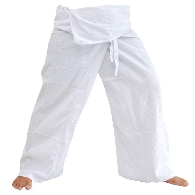 Pescador pantalones tailandeses - Blanco - Algodón