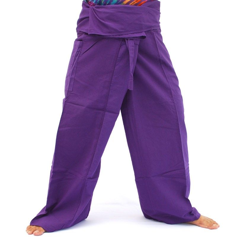 Pantalones pescador tailandés - magenta oscuro - Algodón