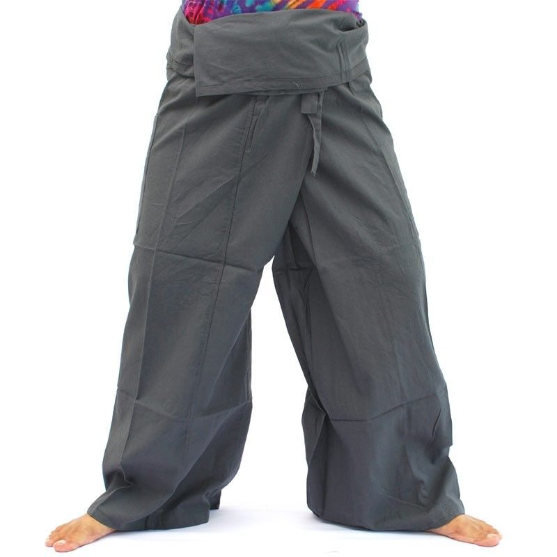 Thai Fisherman trousers - anthracite / gray - cotton