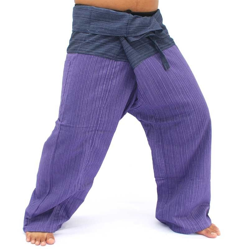 Thai fisherman pants cotton blue magenta