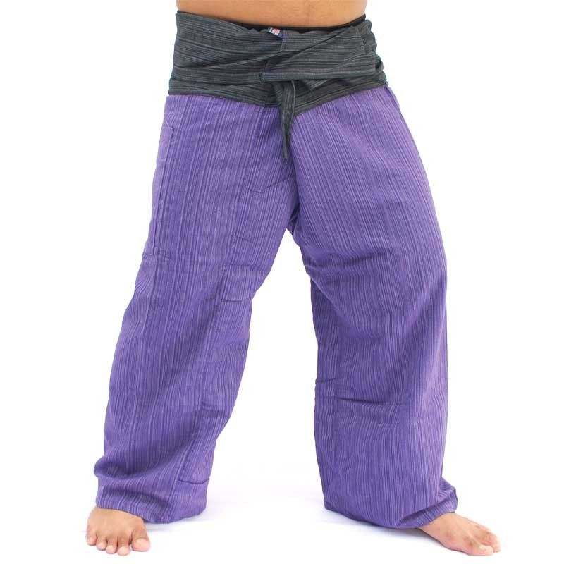 Thai fisherman pants cotton magenta black