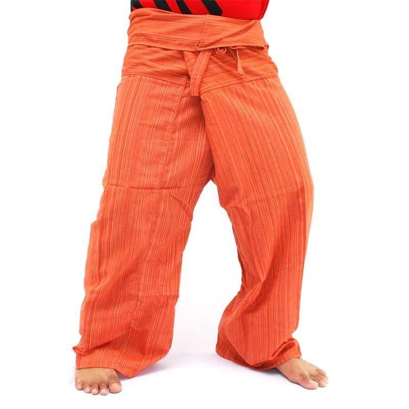 Pantalón pescador Thai - algodón-mix - naranja
