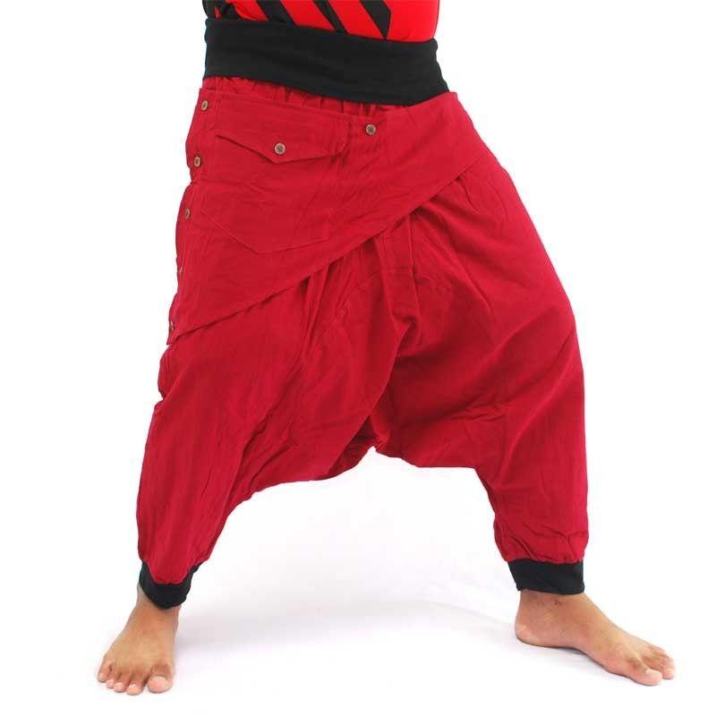 3/5 Aladdin - rojo con apliques y el bolsillo