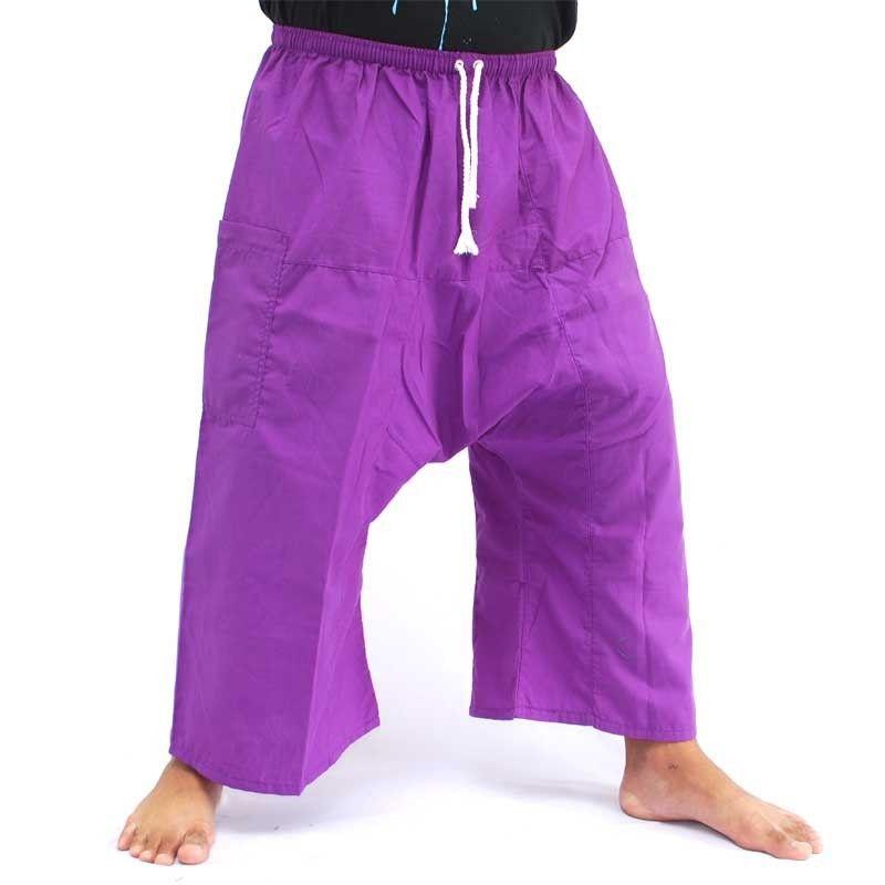 3/4 pescador tailandés Boxershorts - púrpura