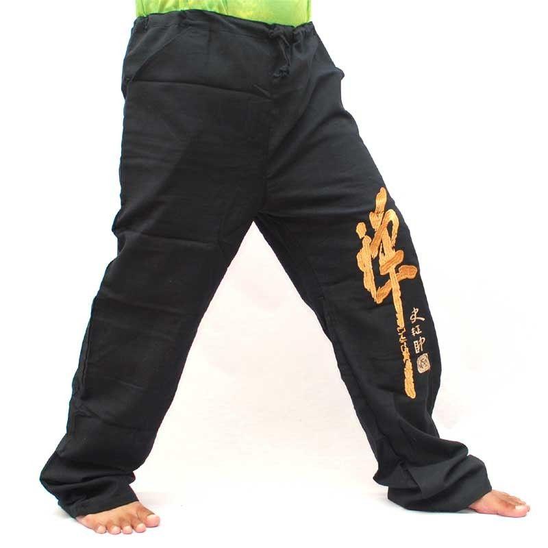 Pantalón casual aireado algodón - negro