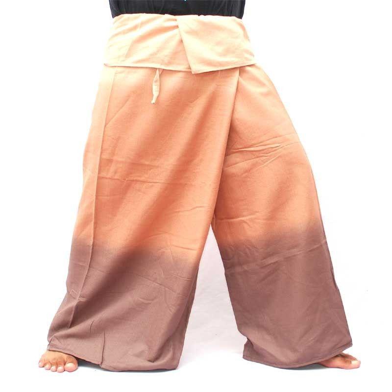 Pantalones de abrigo tailandeses - tonos marrones sombreados