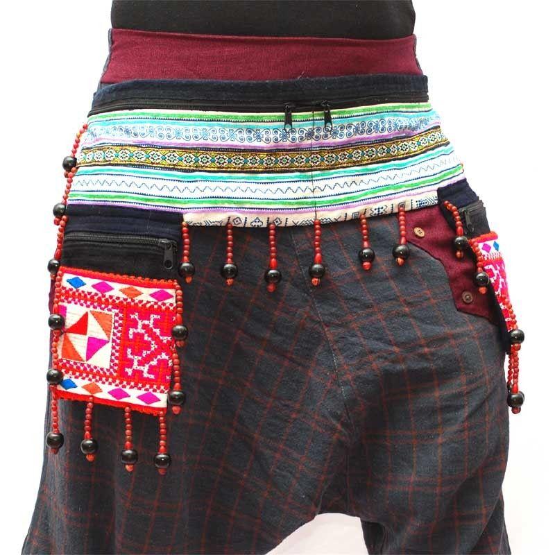 Hill Hmong tribu Riñonera