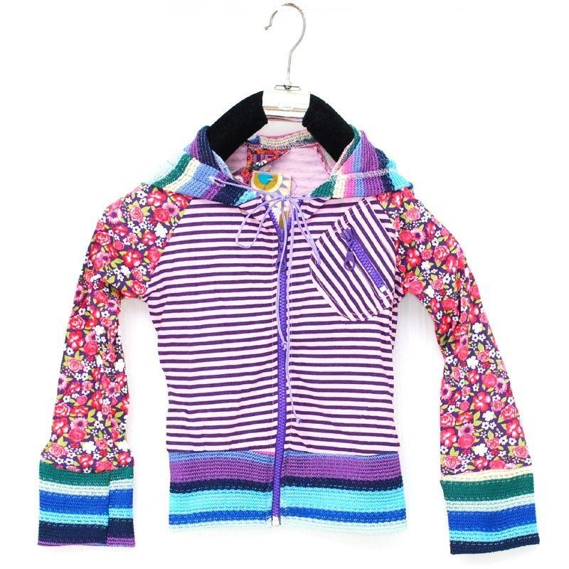 Talla de chaqueta de global underground retro manga larga con capucha S