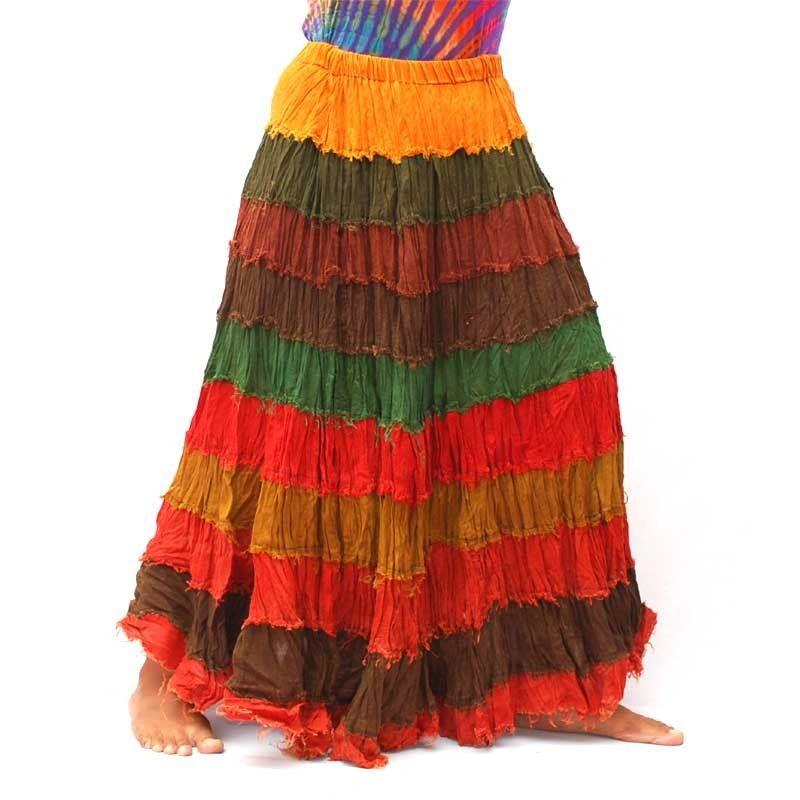 Falda de algodón con elástico
