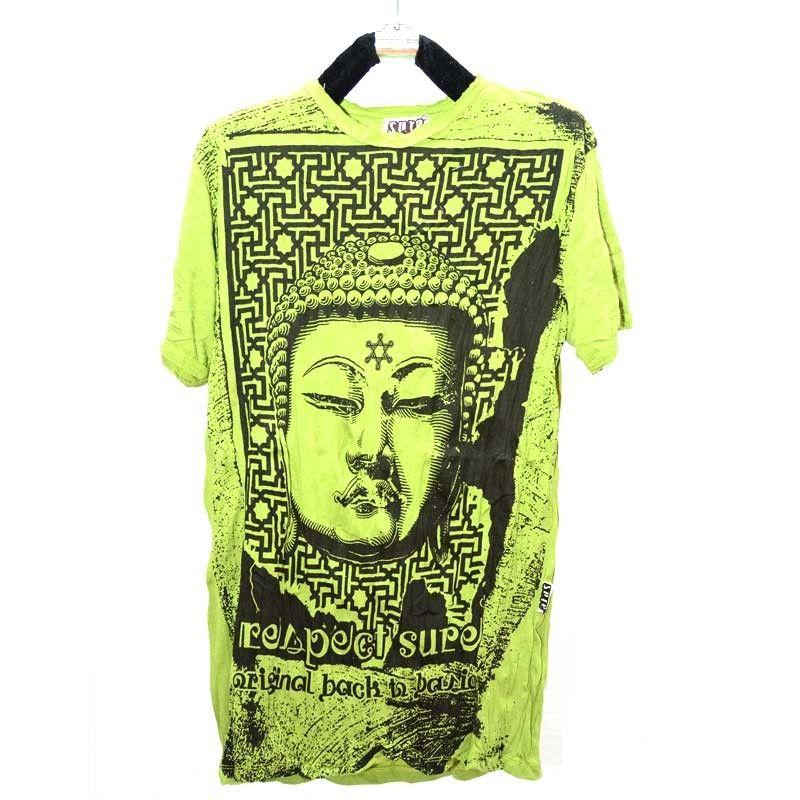 Concepto claro puro - camiseta llorando Budha - talla L