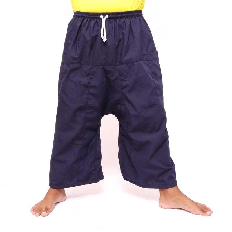 3/4 Thai Fisherman Boxer Shorts - Dark Blue