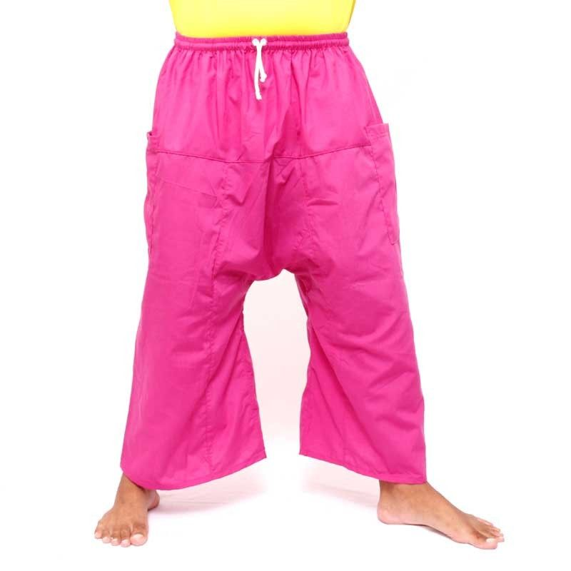 3/4 Thai Fisherman Boxer Shorts -magenta