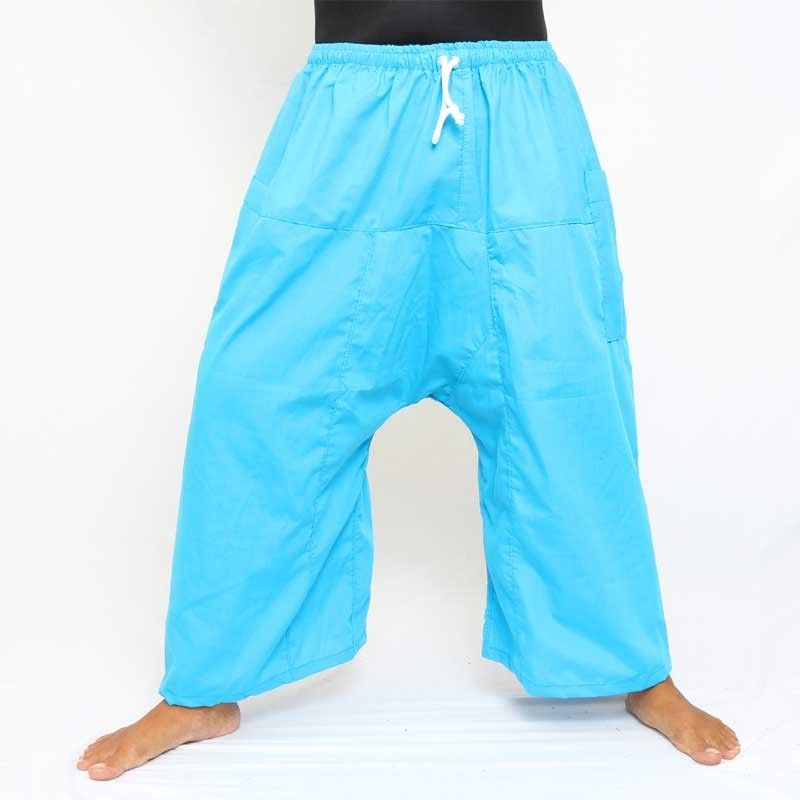 3/4 Thai Fisherman Boxer Shorts - Blue
