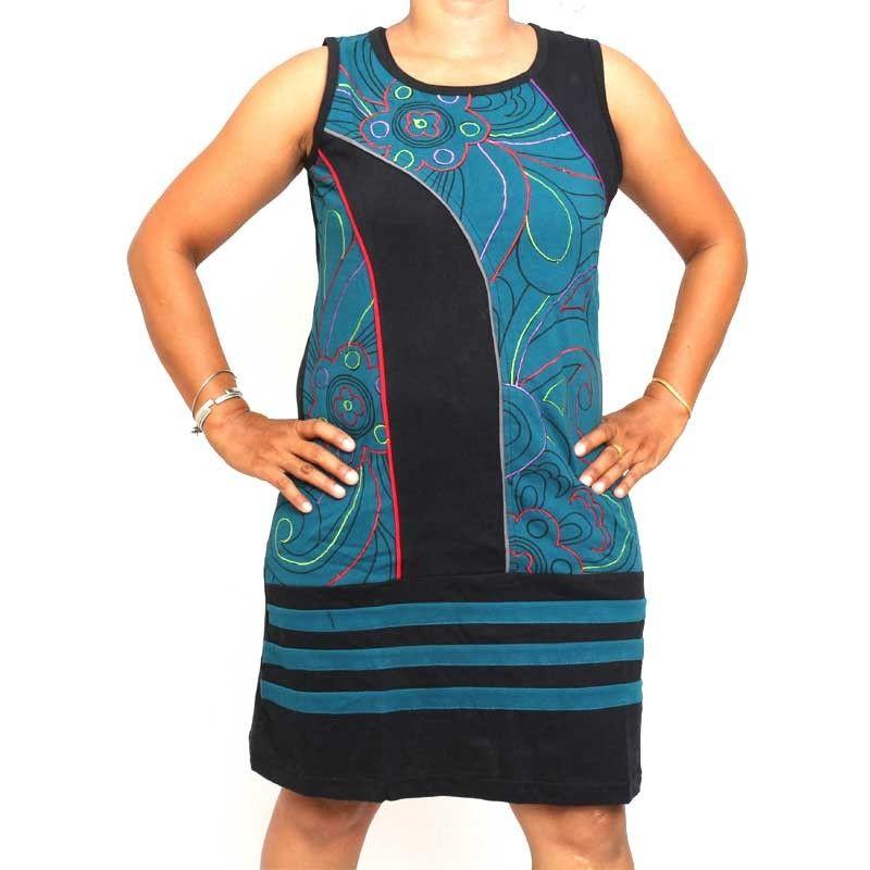 Nepal skirt with decorative stitching