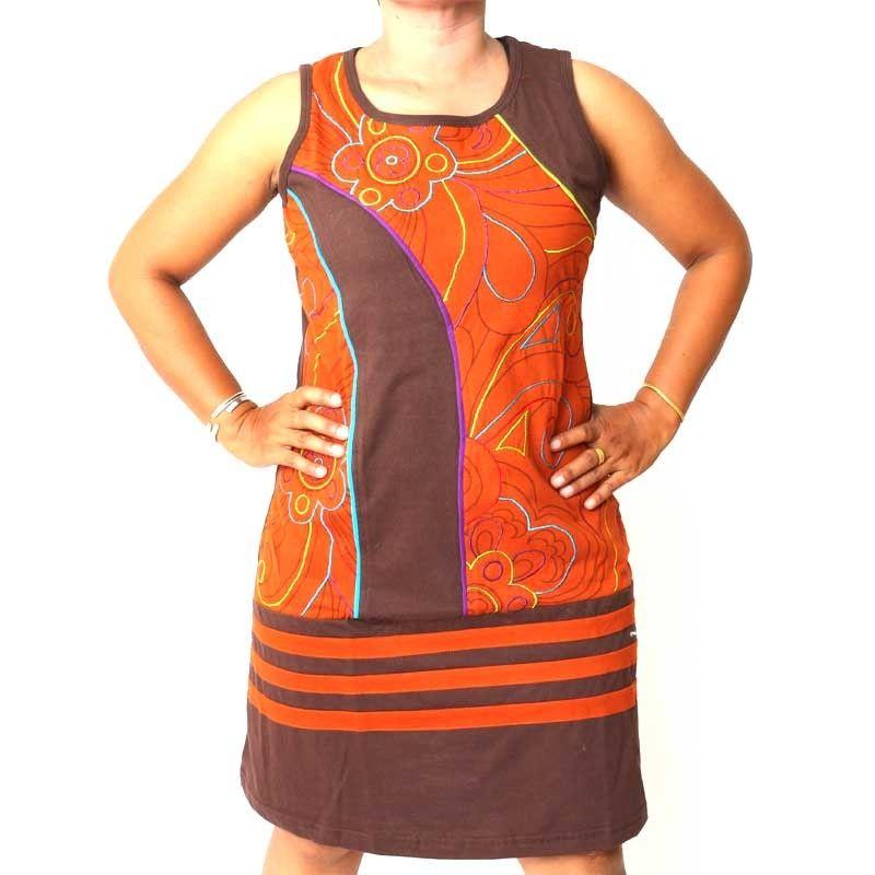 Falda de Nepal con costura decorativa