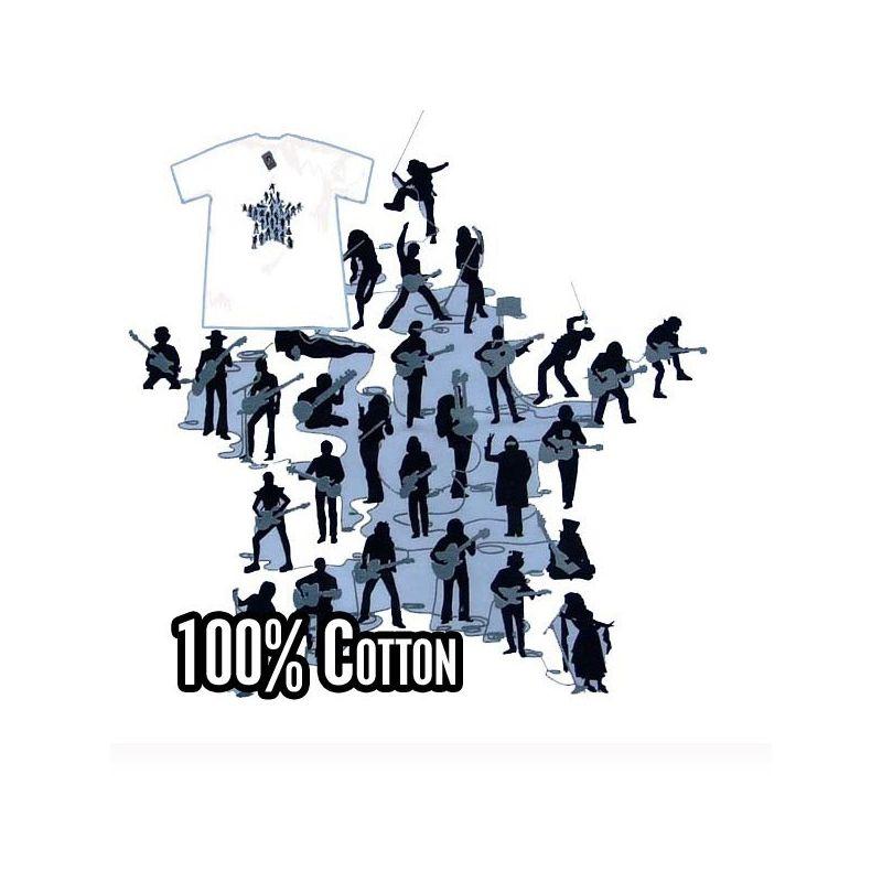 Camiseta - Guitar revolution white - Talla L