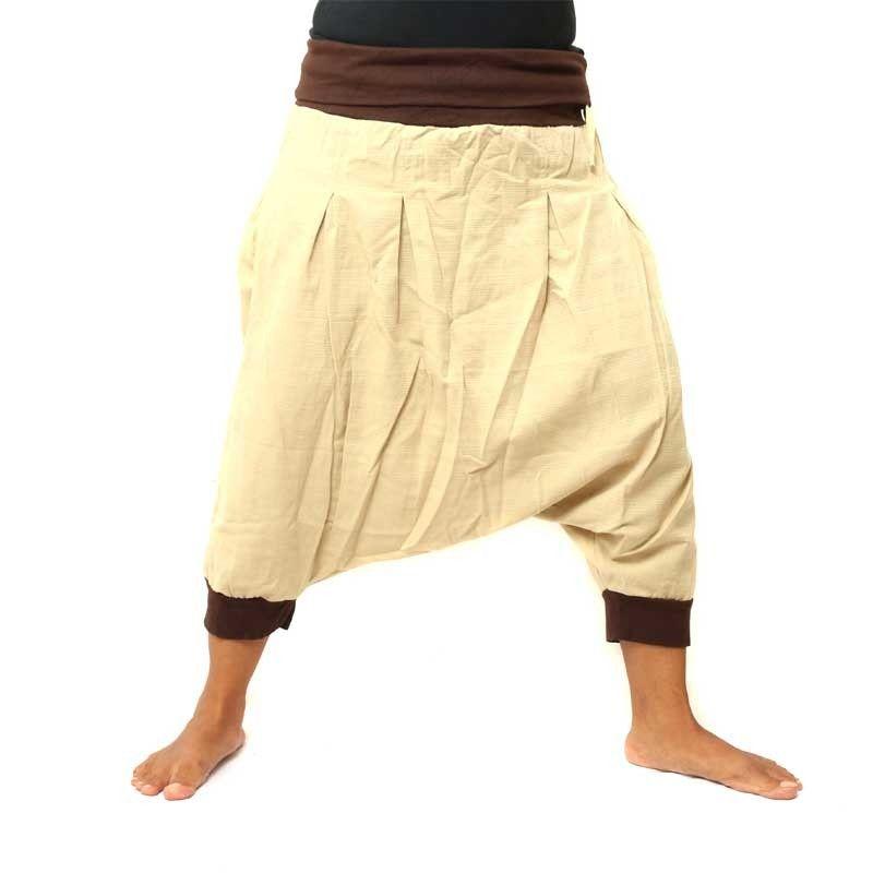 3/4 pantalones harén con 2 bolsillos traseros grandes