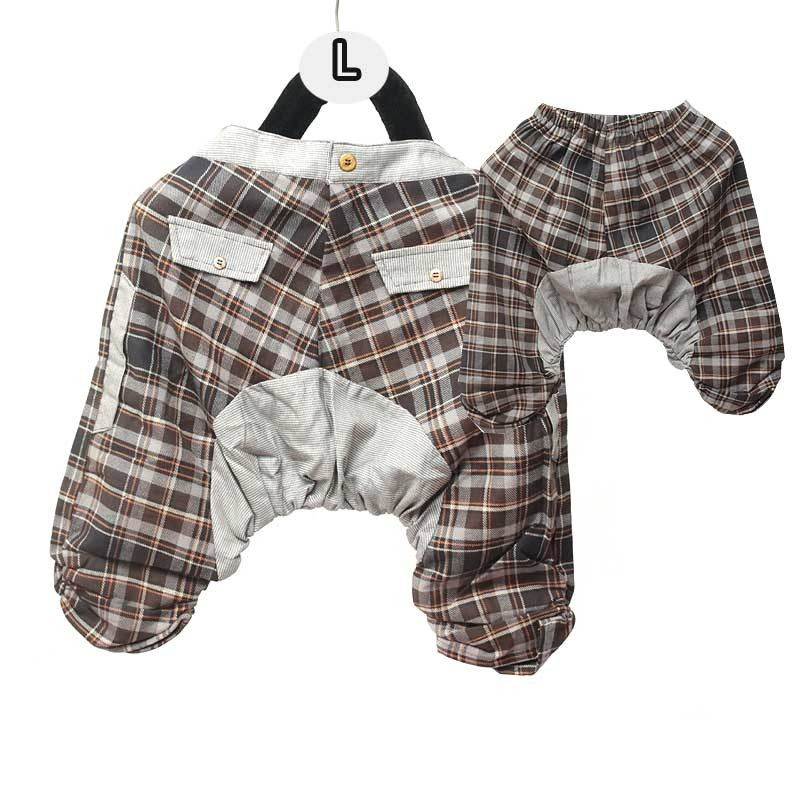 Harems pants for children - cotton / tartan pattern