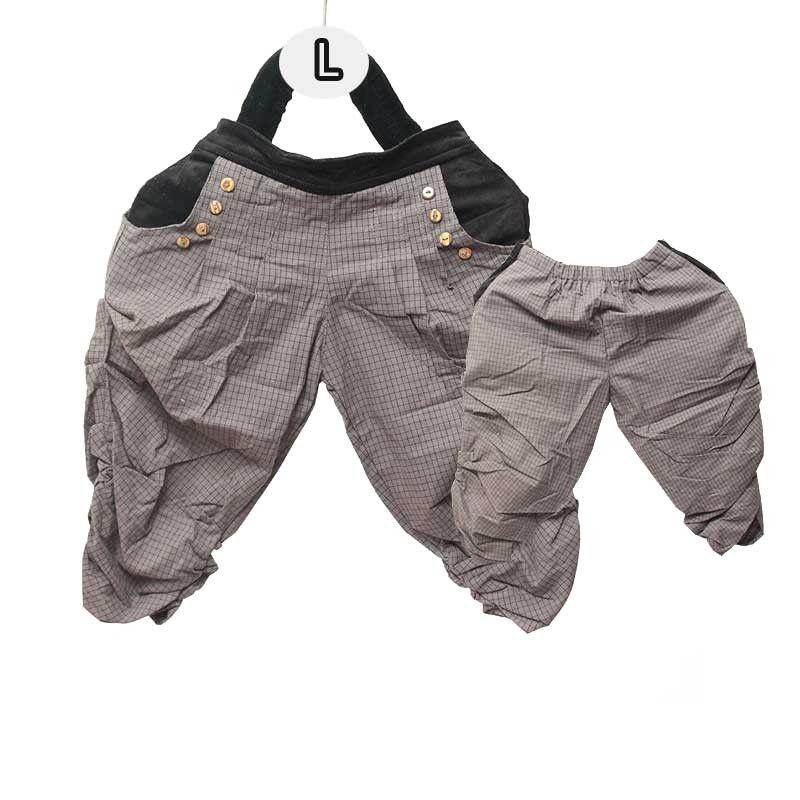 Haremshose für Kinder - Baumwolle/Tartan Muster